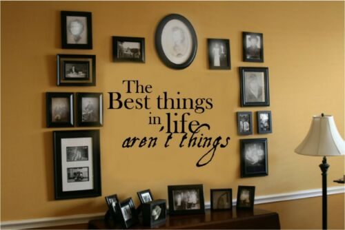 Best Things Life Aren/'t Vinyl Wall Decal Words Letters