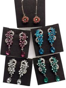 Women-039-s-Bohemian-Boho-Crystal-Flower-Wedding-Party-Jewelry-Dangle-Earrings