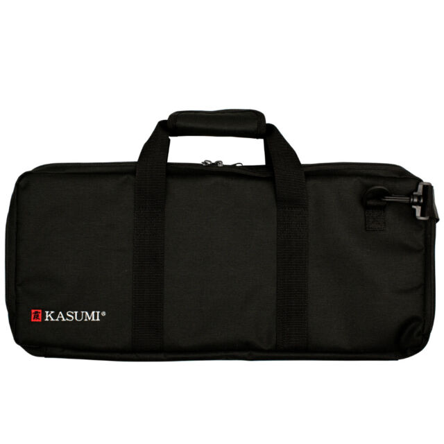 KASUMI Knife Chef Roll Bag Fits 18 Pieces With Handles Black 78265