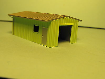 ARMCO STL PREBUILT YARD OFFICE WHITE  #303  by deluxe N SCALE