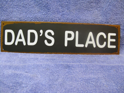 Dad/'s Place Father Daddy Tin Metal Sign Decor Man Cave