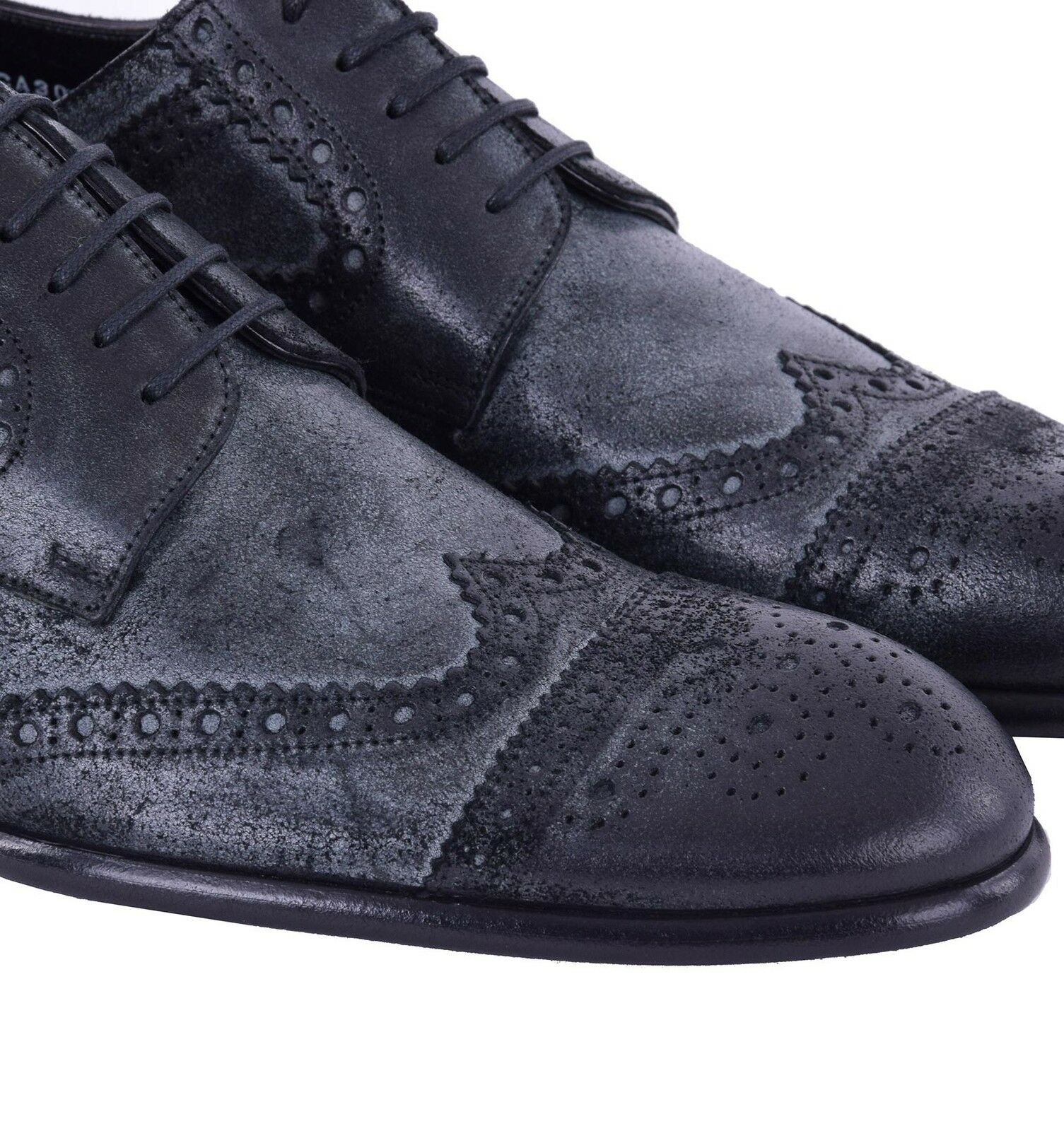 DOLCE & GABBANA Wildleder Business Schuhes Derby Schuhe Schwarz Formal Schuhes Business 05065 d1aa11
