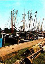 Husum , Fischkutter im Hafen , Ansichtskarte, ungelaufen