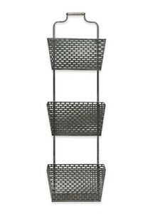 Image Is Loading 3 Tier Galvanized Hanging Basket Farmhouse Country Wall