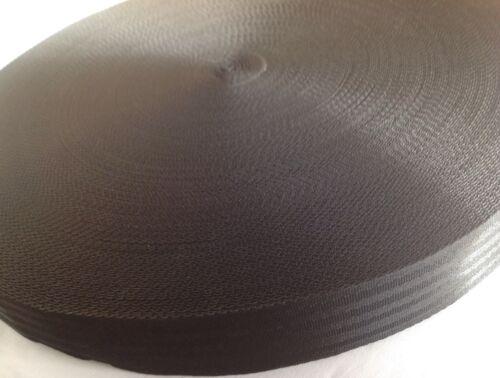Nylon Black Herringbone weave straps strapping 50mm Webbing Tape 2 inch