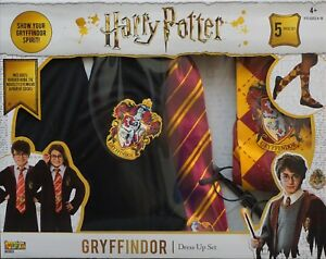NEW-Harry-Potter-Gryffindor-5-piece-set-fits-sizes-4-10-age-4-costumes