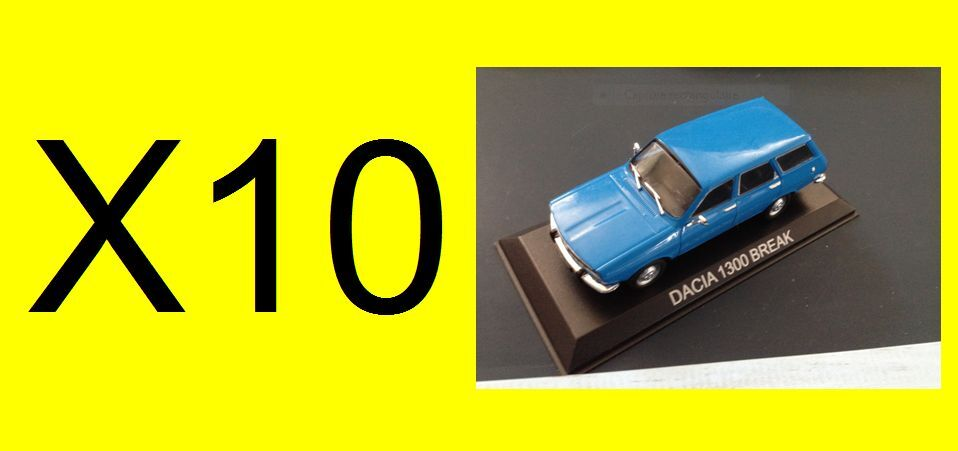 Collection 10 Dacia 1300 Break 1 43 CAR DIECAST IXO IST Legendary car BA22