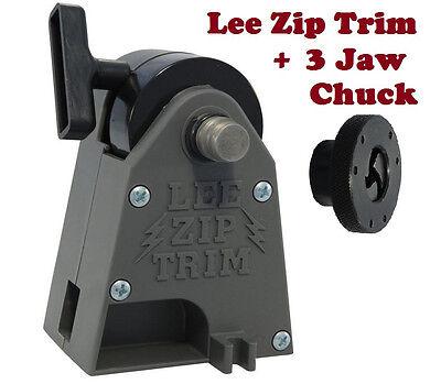 Lee Precision Zip Trim + Lee Universal 3 Jaw Chuck # 90899 + 90608 New!