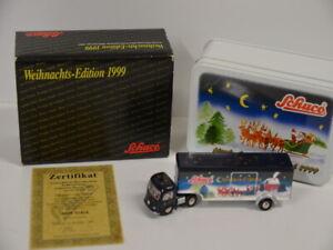 8-Schuco-Piccolo-01832-camiones-MB-koffersattelzug-Christmas-Express-1999-en-OVP