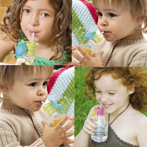 Drink Bottle Replacement Lid Cover Tool Kids Portable Silicone Straw Spill-proof