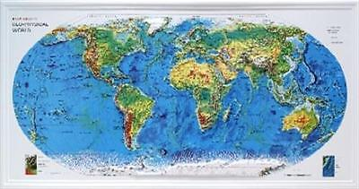 3D Relief-Weltkarte Rand McNally Querformat 96x50cm #100400