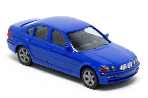 Herpa BMW 3er E46 Limousine blau neutral Modell PKW 1:87 H0