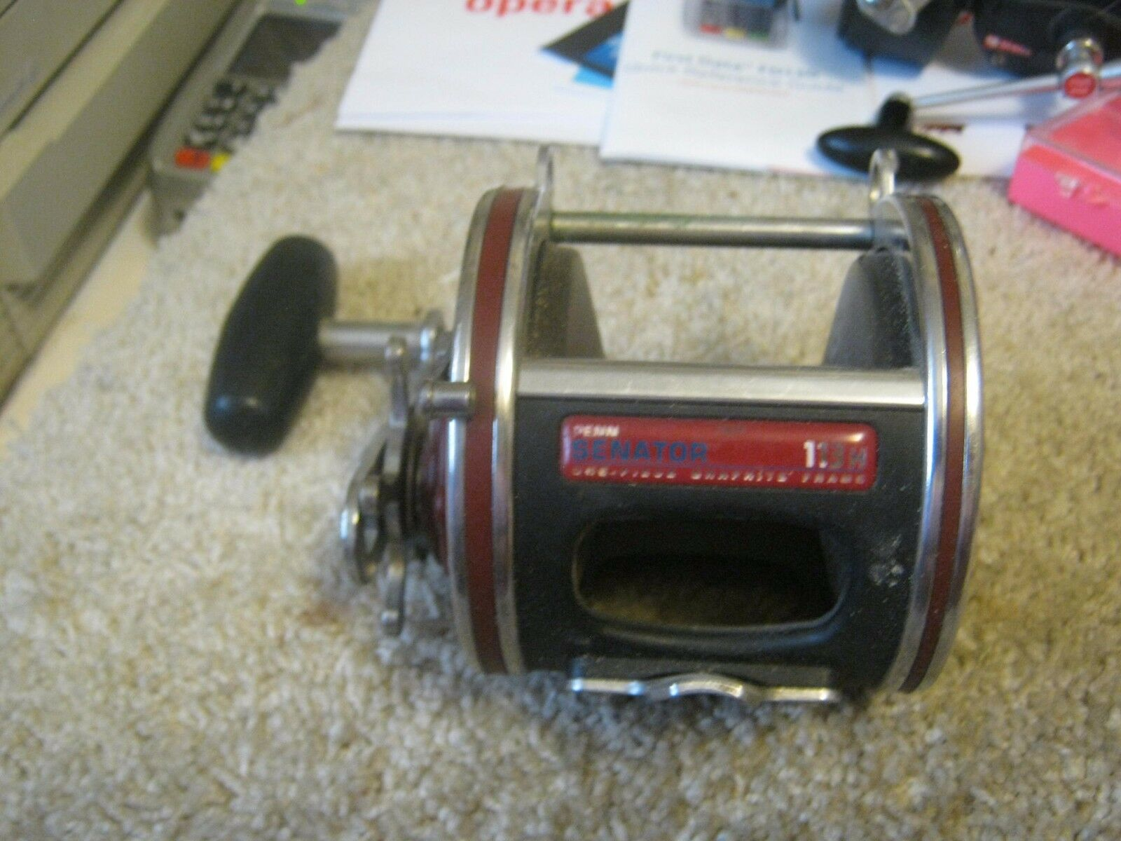 Vintage Penn Senator Graphite Special 4 0 113H Saltwater Reel- USA price reduced