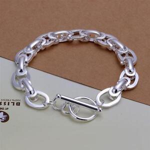 ASAMO-Damen-Herren-Armband-Gliederkette-925-Sterling-Silber-plattiert-A1295