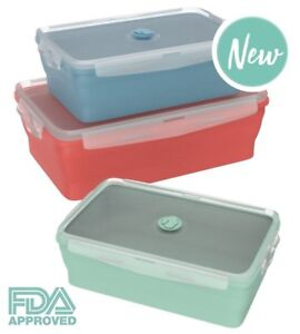 3 pack Collapsible Silicone Food Storage Containers Lightweight