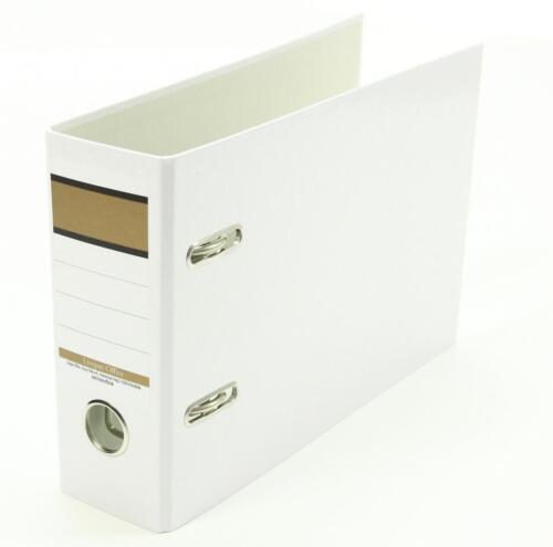 75mm breit weiß A5 quer 3x Ordner Farbe