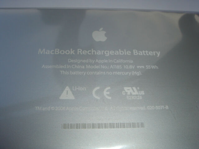 "Original Battery Apple Macbook 13 "" A1185 MA561LL/A MA566G/A MA566J/ a Genuine"
