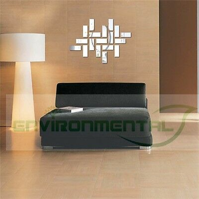 Abstract Groups Acrylic Plastic Mirror Wall ROOM Decal Decor Vinyl Art Stickers