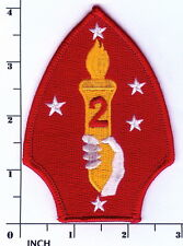 USMC 2nd Marine Division color PATCH 2d MarDiv Hand w/torch! Spearhead ! Marines