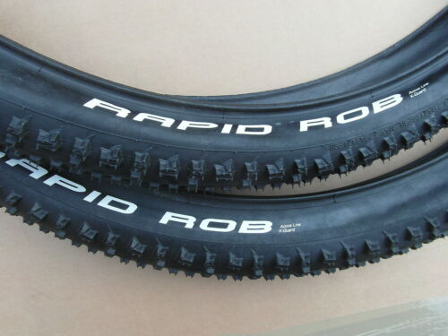 1 PAIR RAPID ROB 27.5 X 2.25 WIRED TYRES