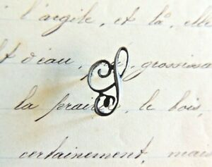 initiale maroquinerie shabby Superbe Monogramme en ARGENT massif Lettre K