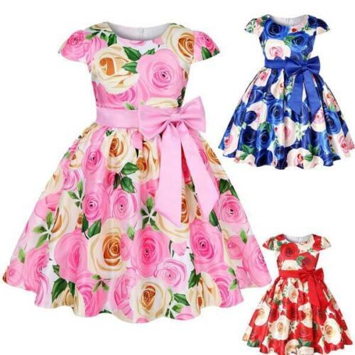 Girl party baby tutu formal princess dress kid bridesmaid dresses flower wedding