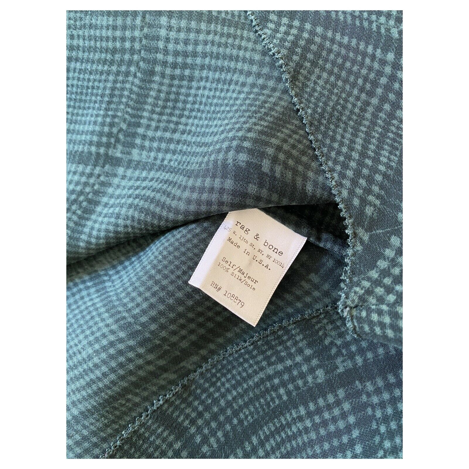 rag and bone silk blouse size 4 excellent conditi… - image 5