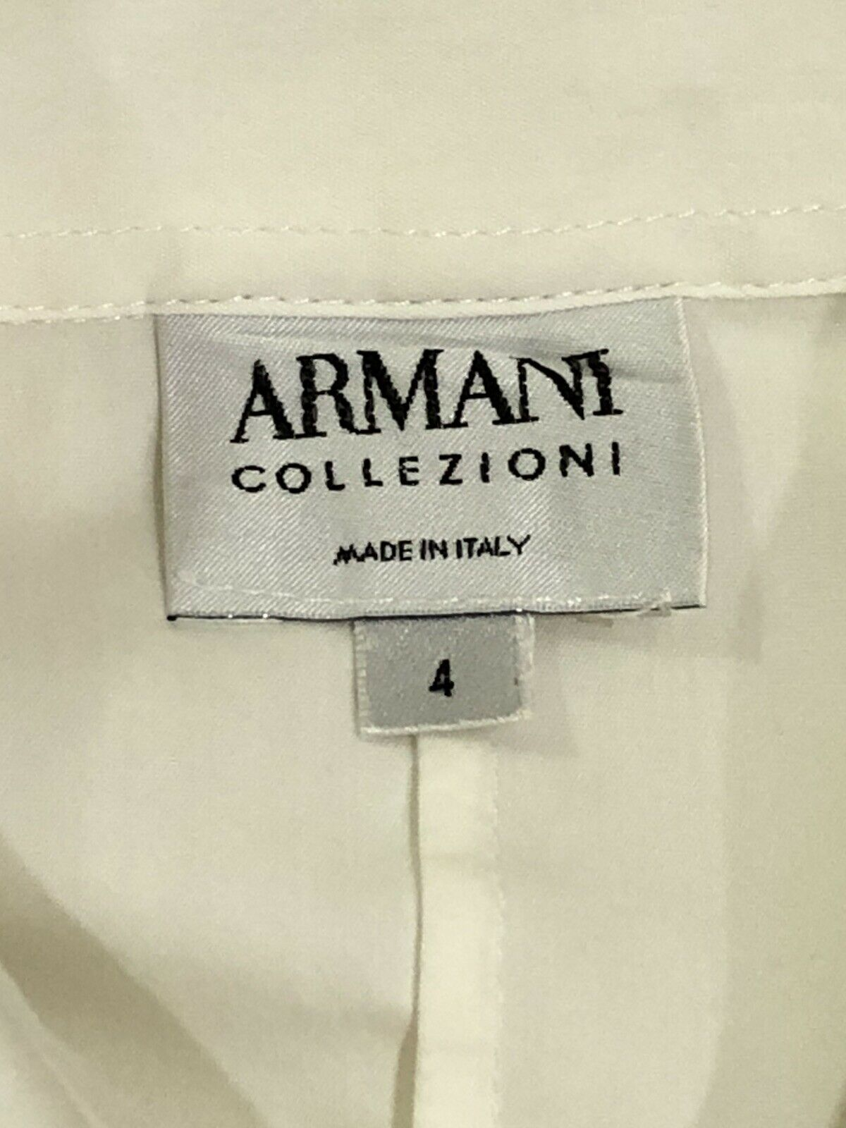 Armani Collezioni ITALY Ivory Pleated Button Up W… - image 9