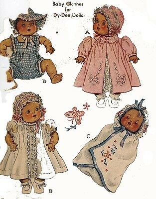 """Betsy Wetsy Vintage 14/"""" 15/"""" Baby Doll Clothes Pattern~ Sparkle Plenty Dy Dee"""