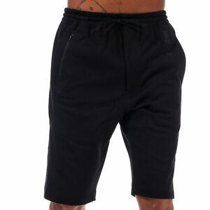 Hommes-Y-3-New-Classic-braguette-zippee-coton-Jogger-Shorts-En-Noir