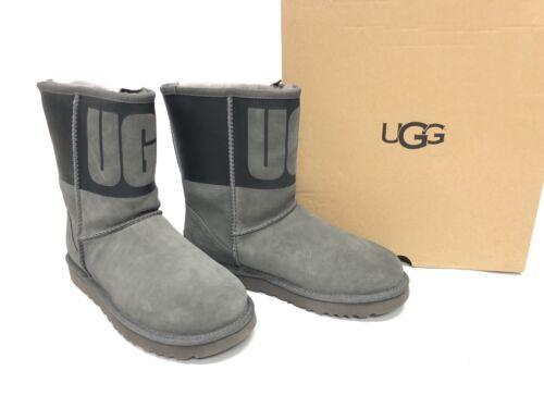 laars korte grafisch Shearling Ugg Australia rubberen 1096473 grijs zwart Classic 8n0yPNwOvm