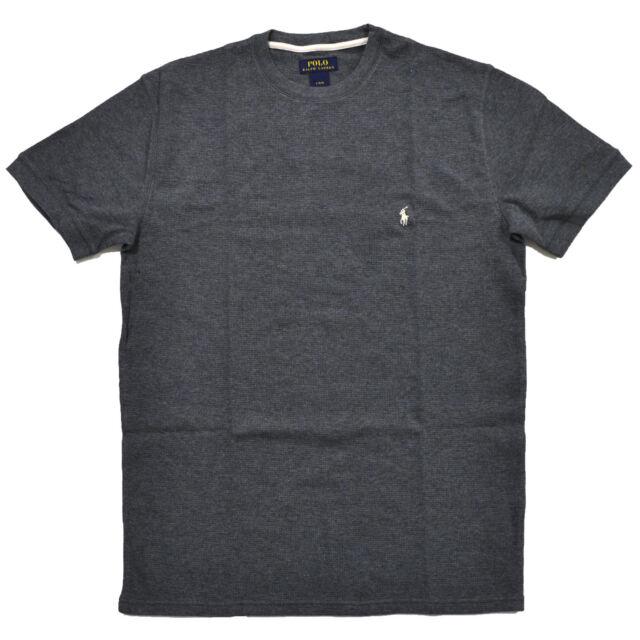 7cc807f59 Polo Ralph Lauren Mens Short Sleeve Crew Neck Shirt Grey Size XL ...