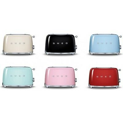 SMEG 50's Retro Style Electric Toaster 2 Slice  - TSF01 - Choose from 7 Colors!