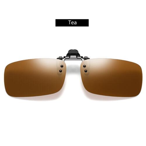 Polarized Clip On 180° Flip Up Sunglasses Shades for Myopia Glasses Eye Glasses