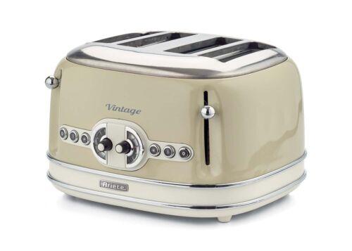 ARIETE 156 Toaster Vintage 4 Slices Toaster Retro 1600W in metal