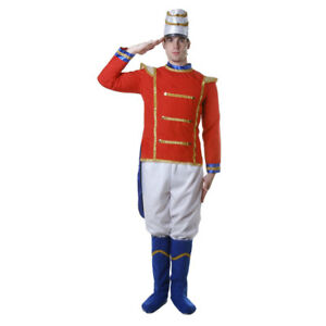 Adult Toy Soldier Costume Set Fancy Dress