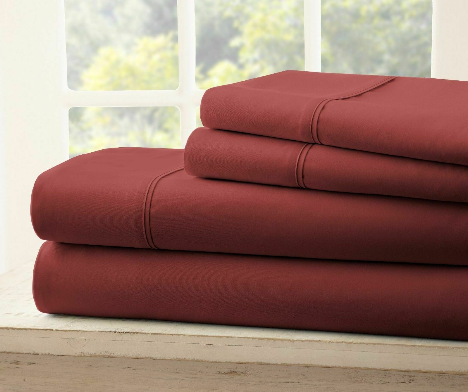 QUEEN SIZE AND KING SIZE 1800 SUPER SOFT WRINKLE FREE SHEET SET WITH 2 P CASES