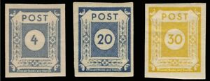 EBS-Germany-1945-Soviet-Zone-East-Saxony-Numerals-set-Michel-53-55-MNH