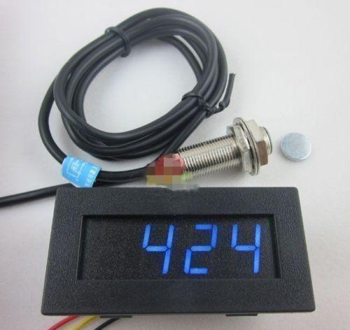 Digital Blue LED Tachometer RPM Speed Meter+ Hall Proximity Switch Sensor NPN