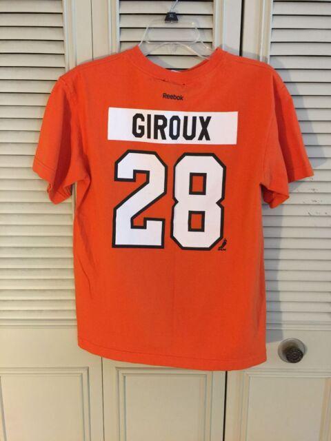 2097191fa Youth Boy s Reebok Philadelphia Flyers Claude Giroux  28 Orange T-Shirt  Size XL