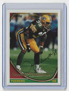1994-PACKERS-Darrell-Thompson-signed-card-Topps-352-AUTO-Autographed-Green-Bay