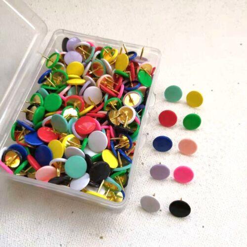 100x Pinnwandnadeln Push Pins Nadeln Pinwand Bunt Pastell schwarz weiß Rosa