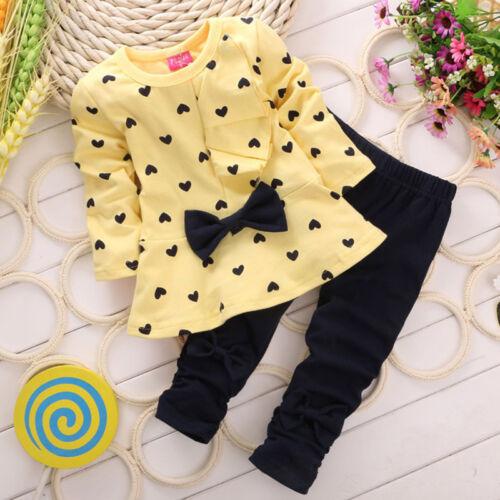 Kinder Baby Mädchen Kleidung Trainingsanzug Sweatshirt Top Hose 2Tlg Outfits Set