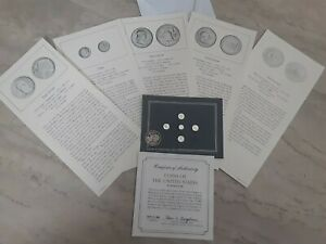 VTG New Sealed 1982 Franklin Mint US Sterling Silver Mini Collectible Coins Pack