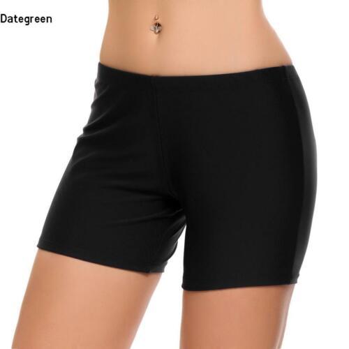 Frauen Mitte Taille Solide Swim Boyshorts Bikini Bottom Bademode DTGN