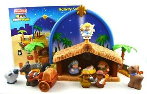TESTED-Fisher-Price-Little-People-INCOMPLETE-MSNG-2-Nativity-Set-N6010-Musical