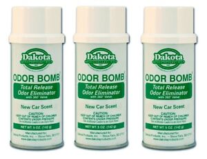 Dakota Odor Bomb Car Odor Eliminator - New Car Scent 5 oz. x 3 PACK DAK-48-NC