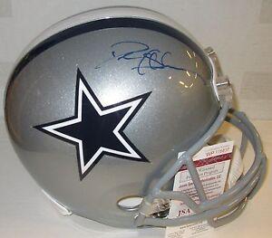 Cowboys DEION SANDERS Signed Riddell Full Size Replica Helmet AUTO - JSA