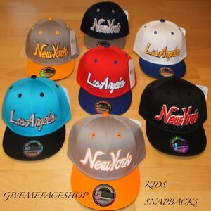 EXCLUSIVE KIDS SNAPBACK CAPS HIP HOP CHILDREN BOYS//GIRLS FLAT PEAK FITTED HATS