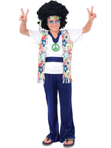Garçons Hippie Dude Costume Robe Fantaisie 1960 s hippy kids enfant costume Outfit